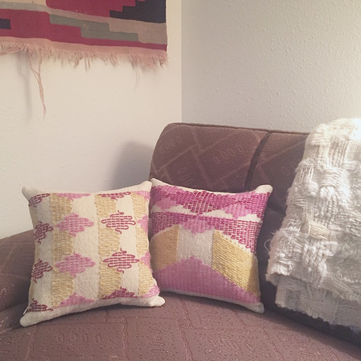 Pillow covers in Theo Moorman technique