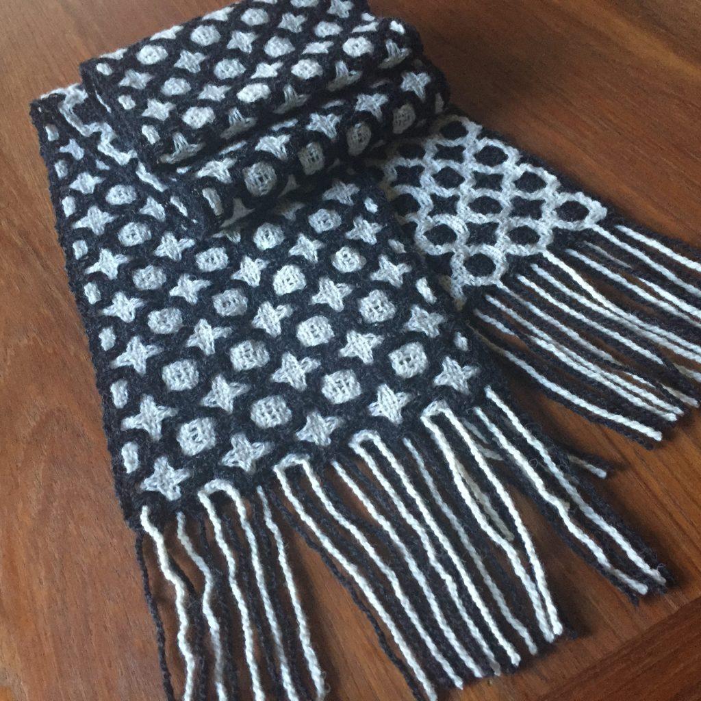 100% wool deflected doubleweave scarf