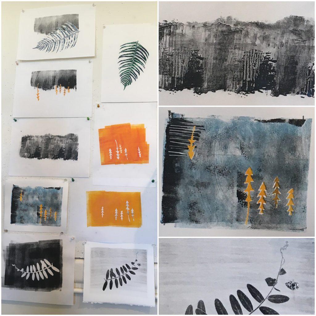 Monoprint experimentation, 2017