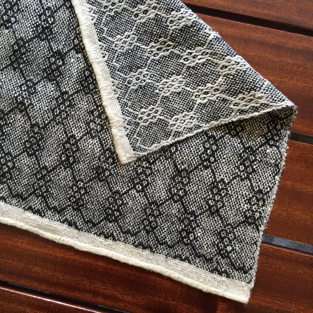 100% silk kerchief in an 8-shaft twill with a hand-rolled hem