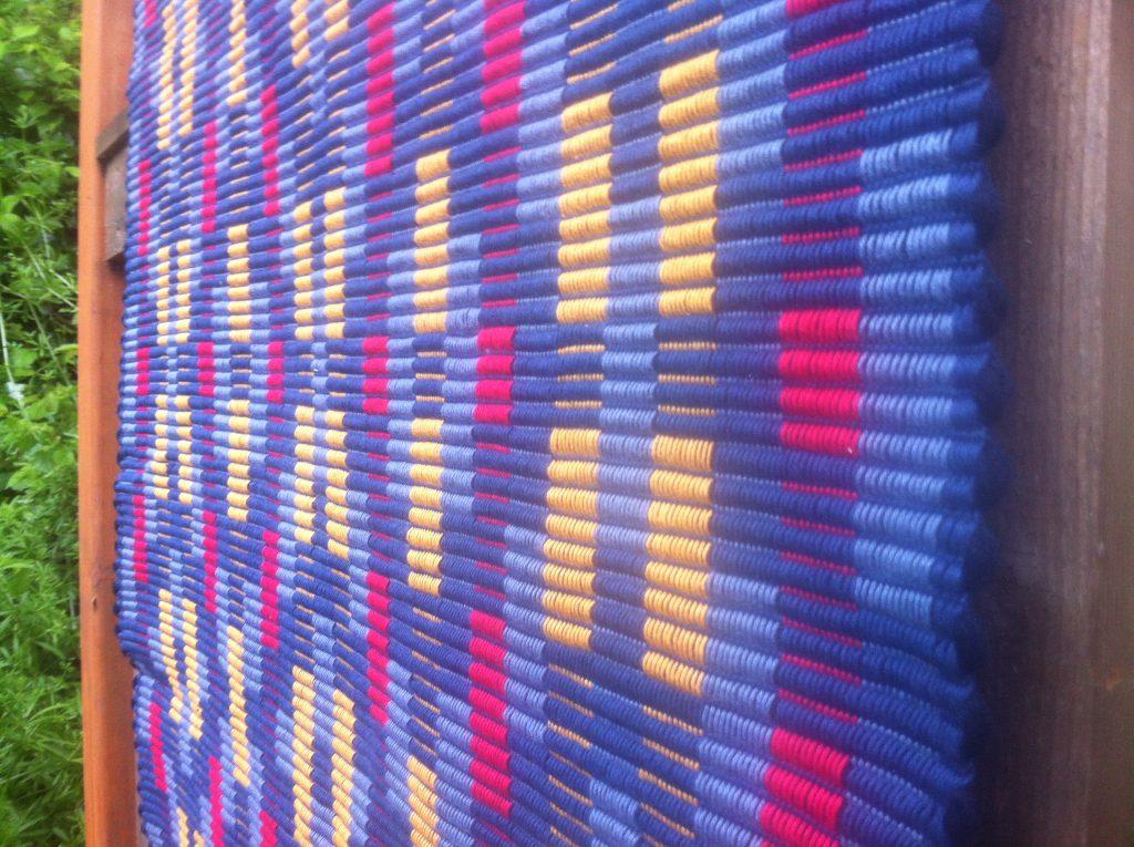 Detail of rep weave rug, 2013